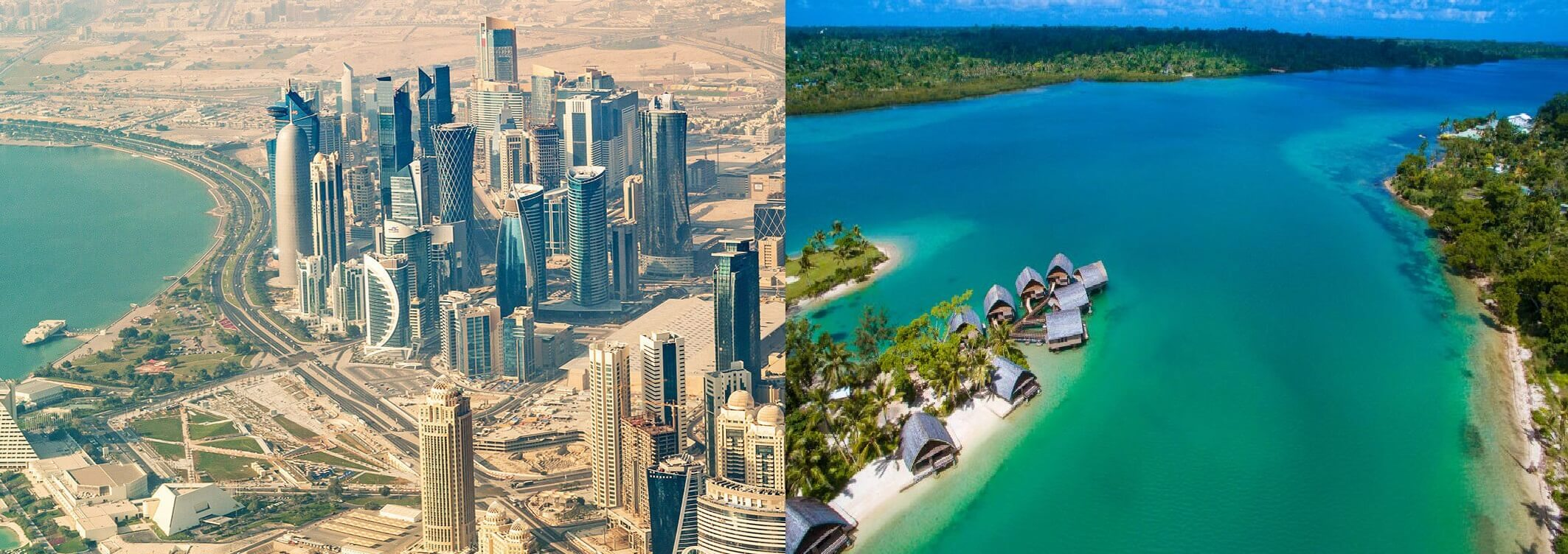 جزیره وانوآتو در اقیانوس آرام و کشور قطر