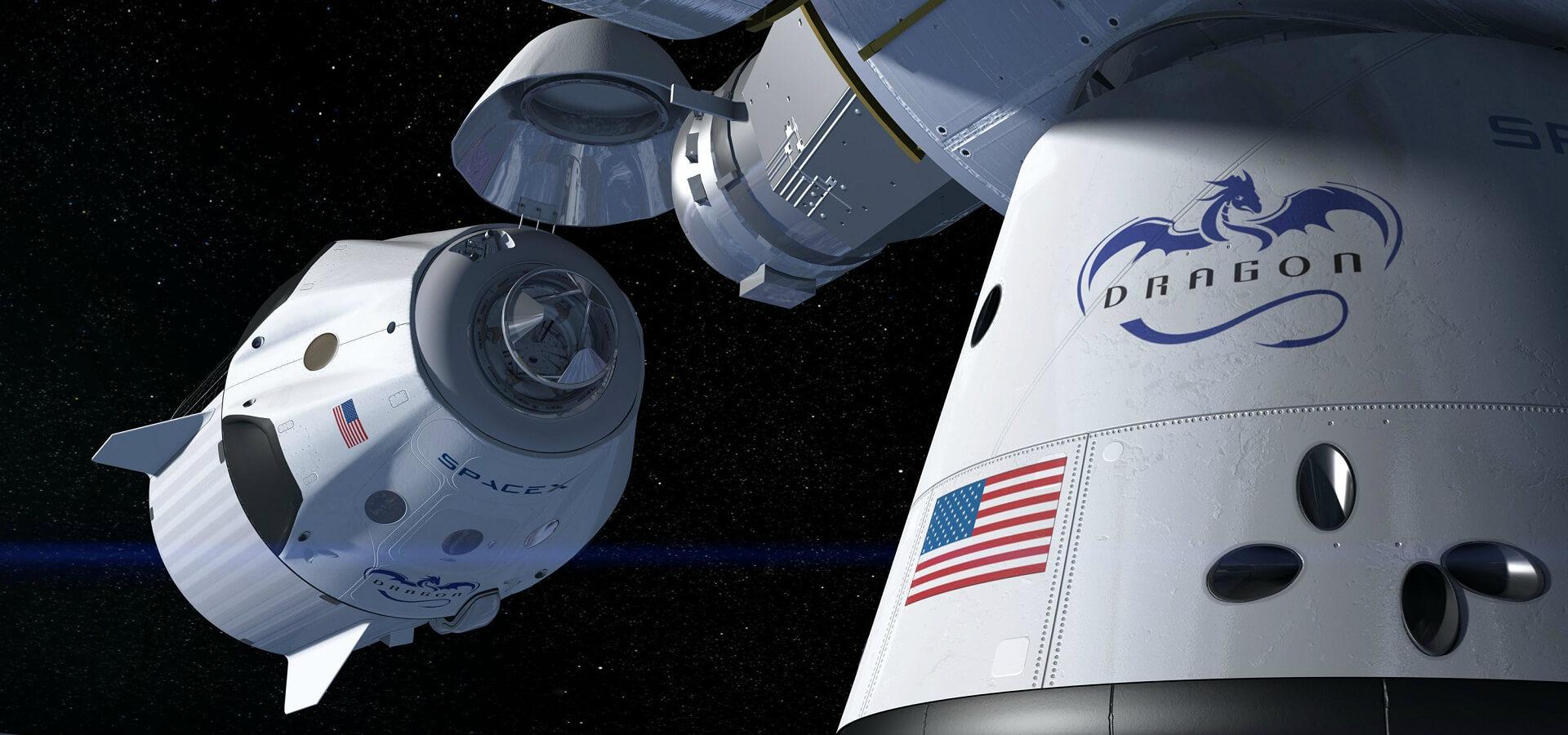 اتصال دراگون سرنشین دار به ایستگاه فضایی بین المللی