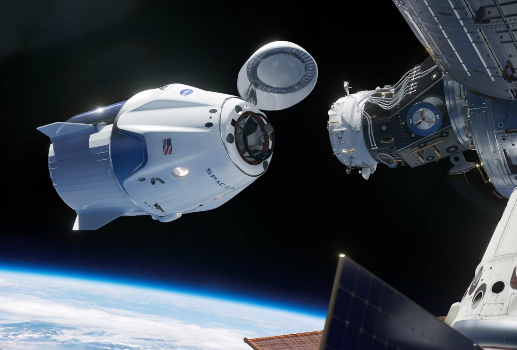 اتصال کرو دراگون با ایتسگاه بین فضایی بین المللی