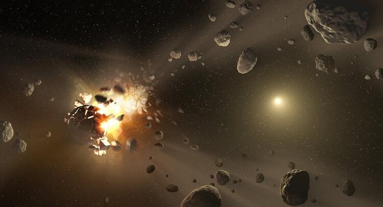 از بین بردن سیارک با بمب