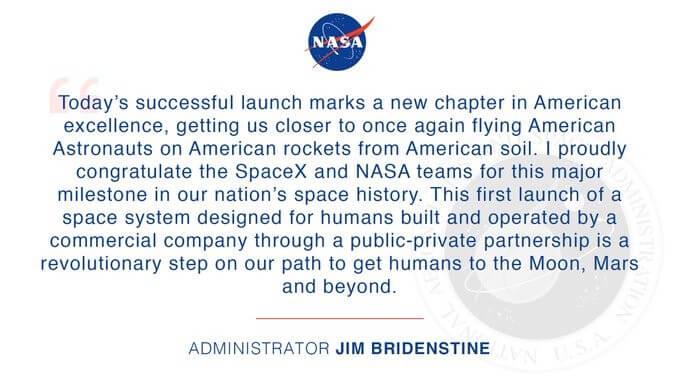 توییت مدیر ناسا