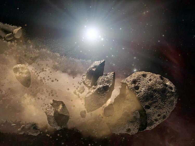 سیارک مهاجم به زمین