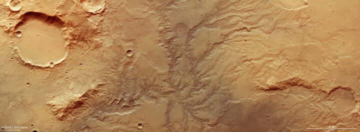 نقشه دره های مریخ