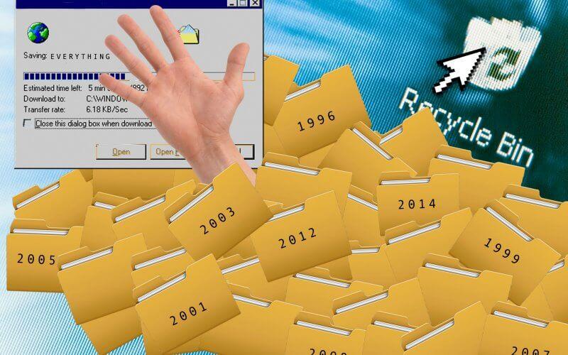 فایل های ذخیره شده دیجیتالی در یک انسان معمولی