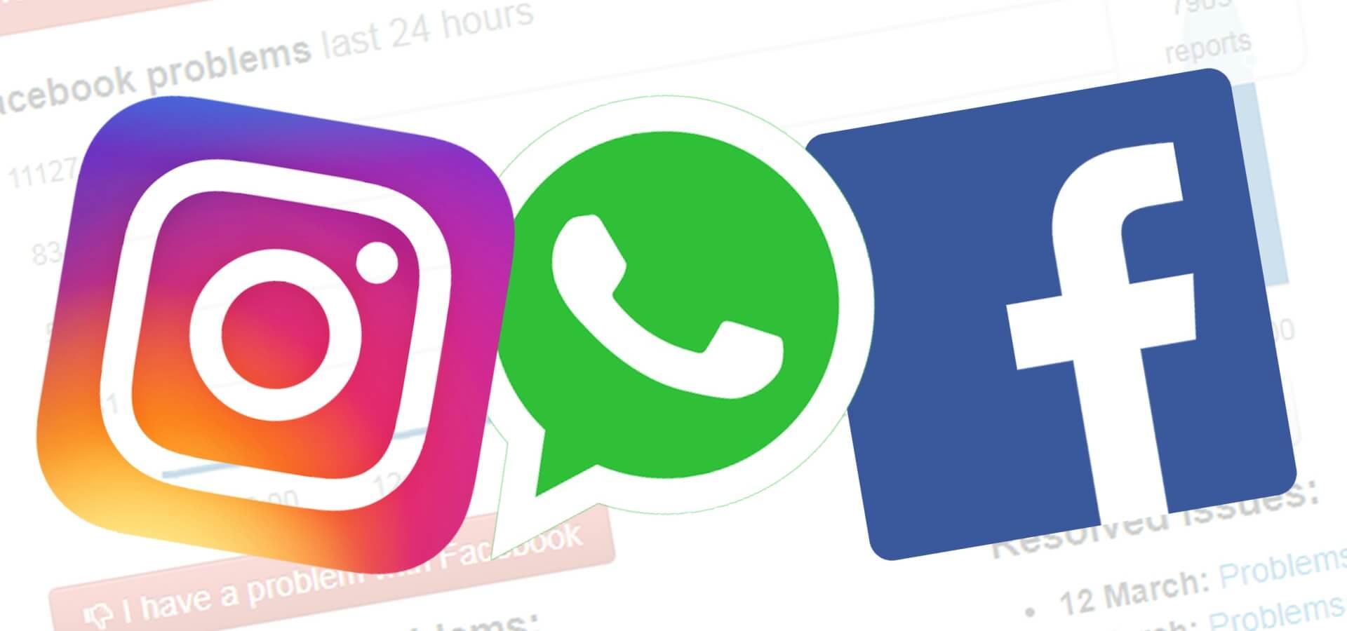 اختلال در اینستاگرام فیسبوک و واتساپ