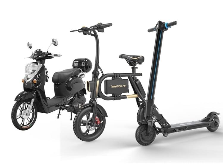 اسکوتر، دوچرخه و موتورسیکلت
