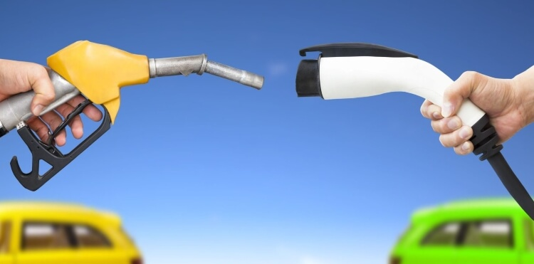 خودروهای برقی و معمولی