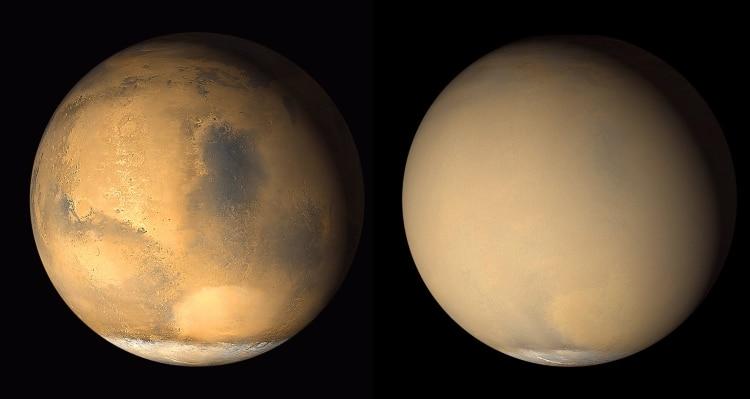 طوفان شن در مریخ