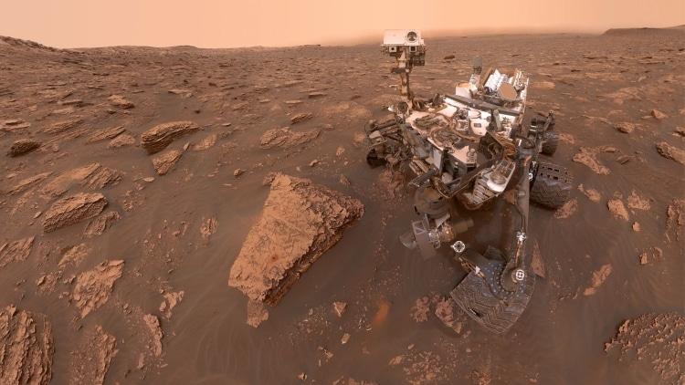 کیوریاسیتی طوفان شن سطح مریخ