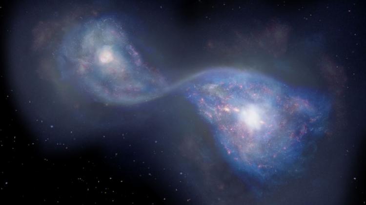 ادغام کهکشان 13 میلیارد سال پیش