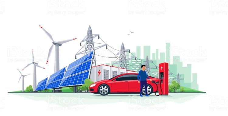 تولید برق خودروی الکتریکی
