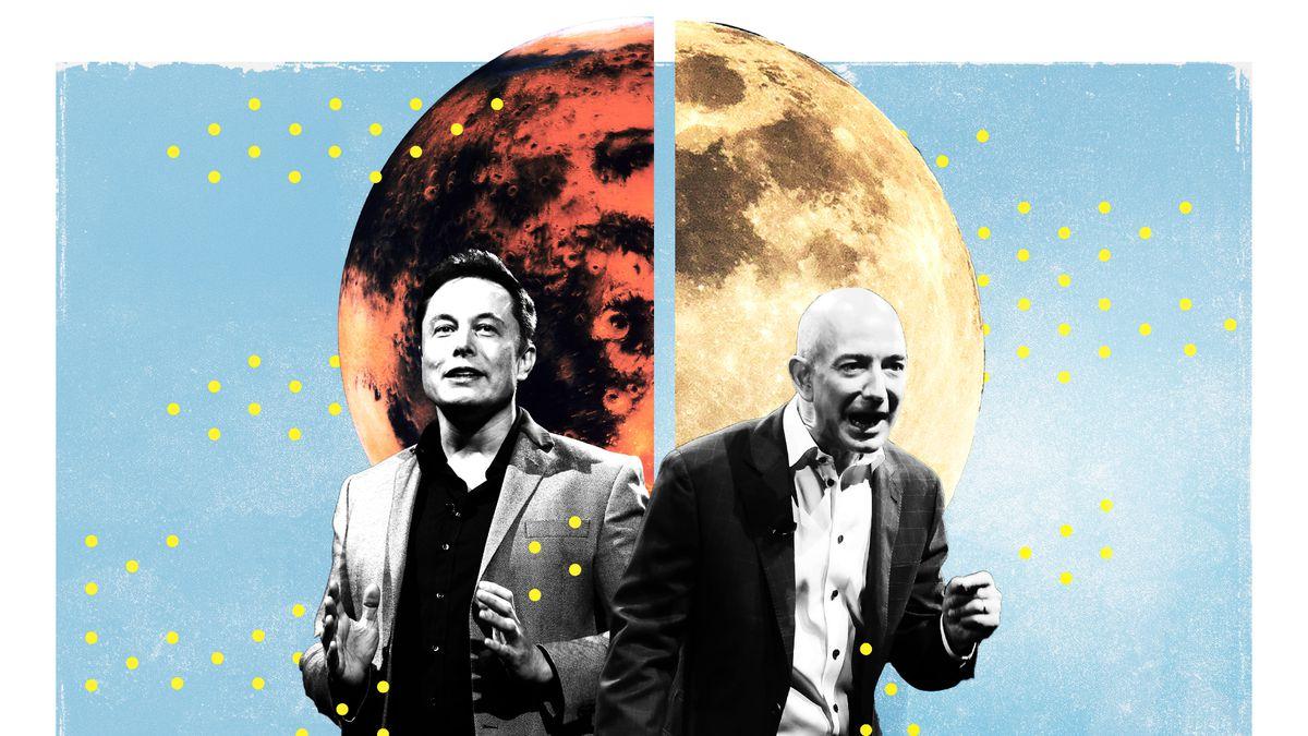 جف بزوس و ایلان ماسک سفر های فضایی