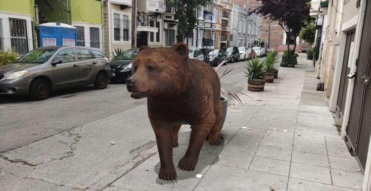 خرس واقعیت افزوده گوگل