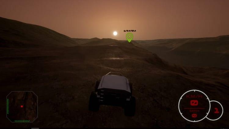 شبیه سازی سطح مریخ