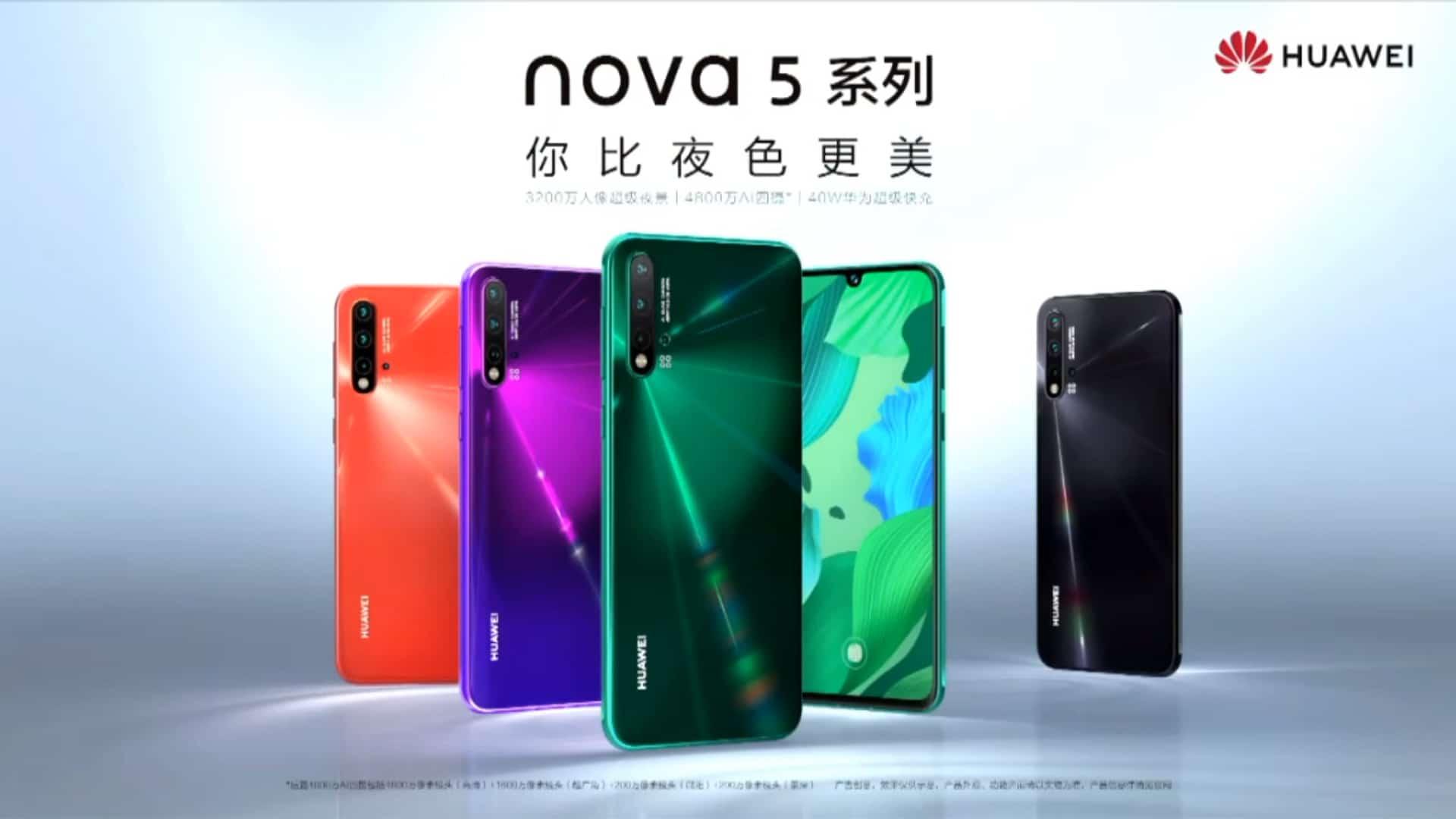 huawei nova 5 series colors