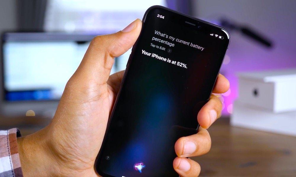 siri iphone x check battery percentage 9to5mac