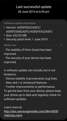 بهروزرسانی بسته امنیتی اردیبهشت گوشی گلکسی A50 سامسونگ تغییرات جدیدی را به همراه میآورد