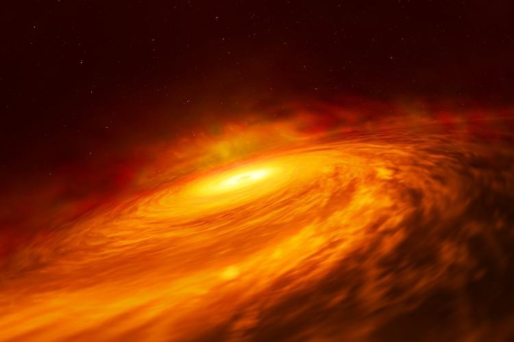 دیسک مواد افق رویداد سیاهچاله