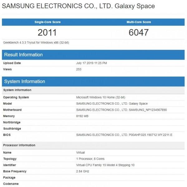 لپتاپ Galaxy Book S