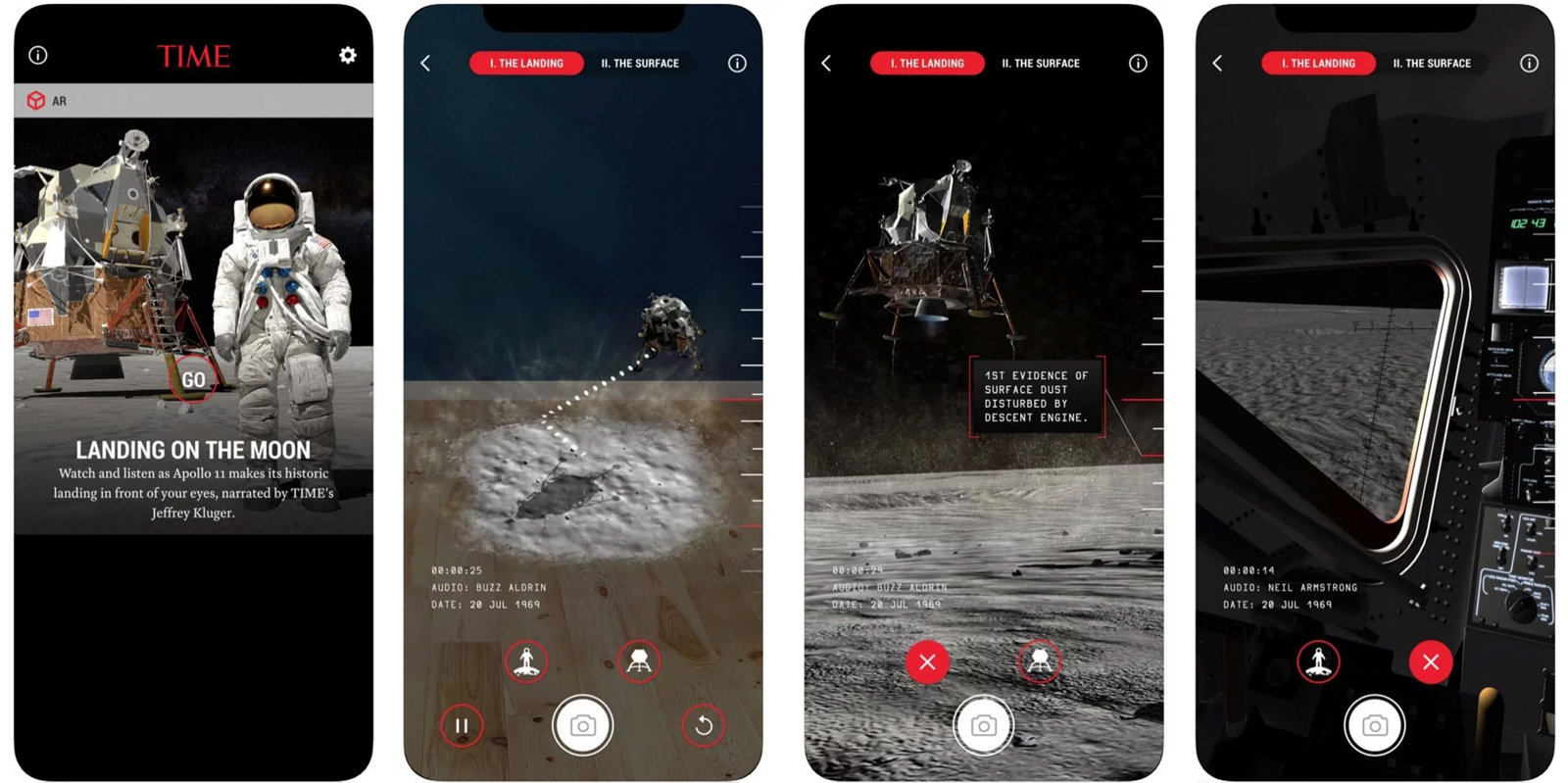 مجله تایم با کمک واقعیت افزوده پنجاه سالگی ماموریت آپولو 11 را جشن میگیرد