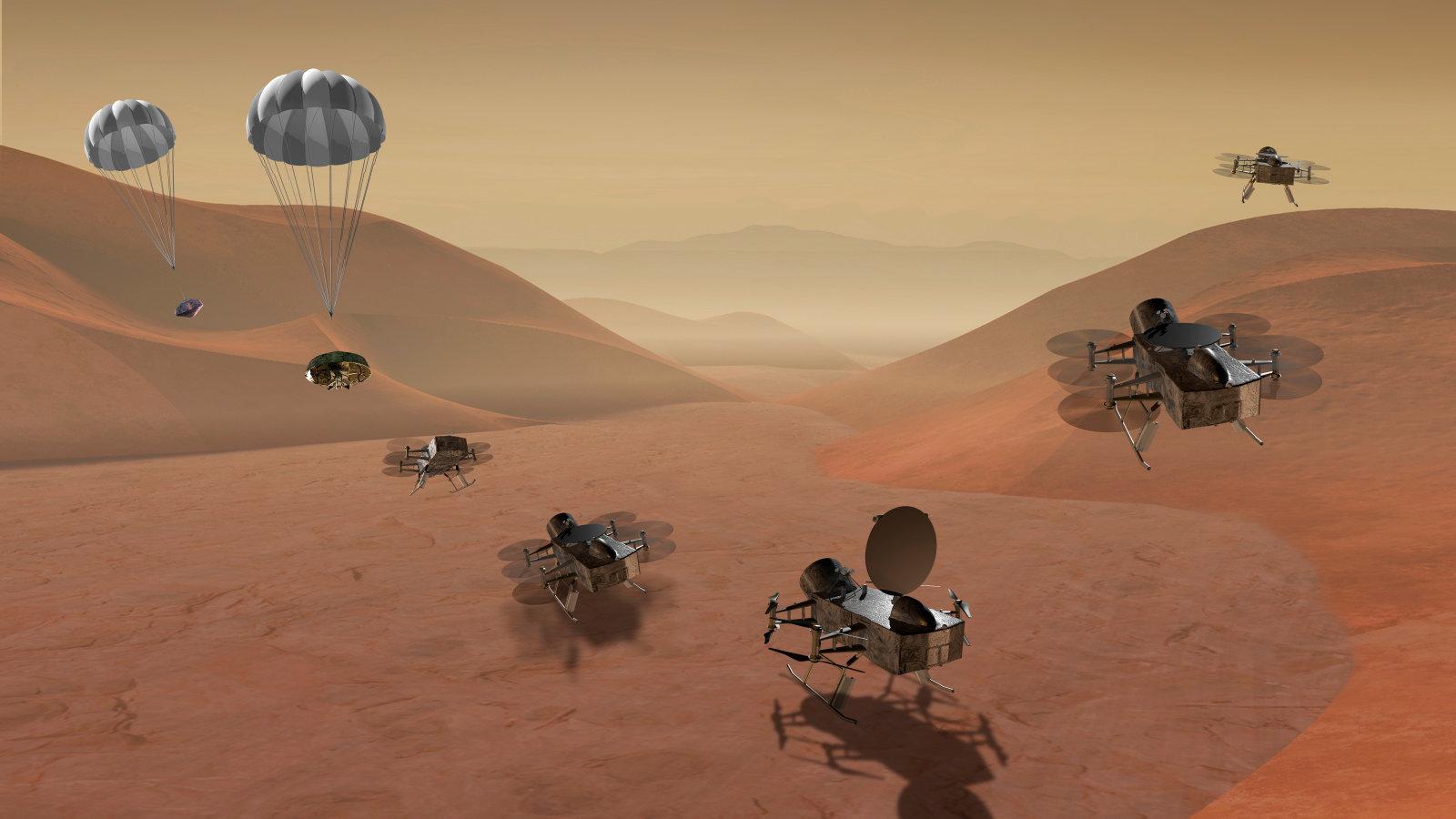 پهپاد های ناسا در تایتان