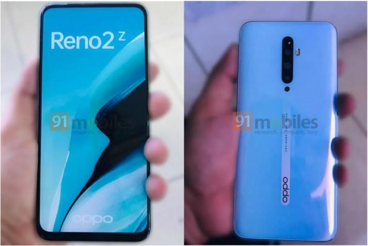 انتشار تصاویر زنده گوشی Reno 2Z اوپو آرایش دوربین چهارگانه و نمایشگر بدون بریدگی را نشان میدهد