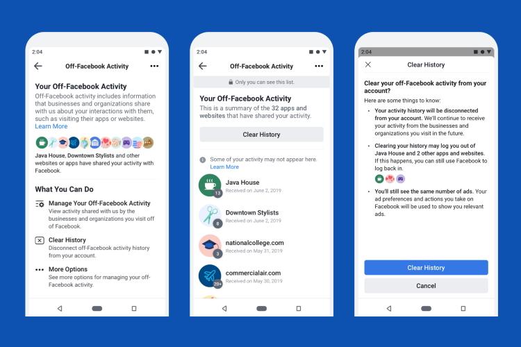 حریم خصوصی فیسبوک