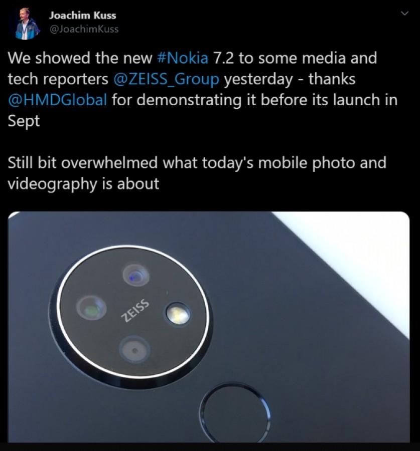 طراحی گرد دوربین گوشی Nokia 7.2 به بیرون درز پیدا کرد