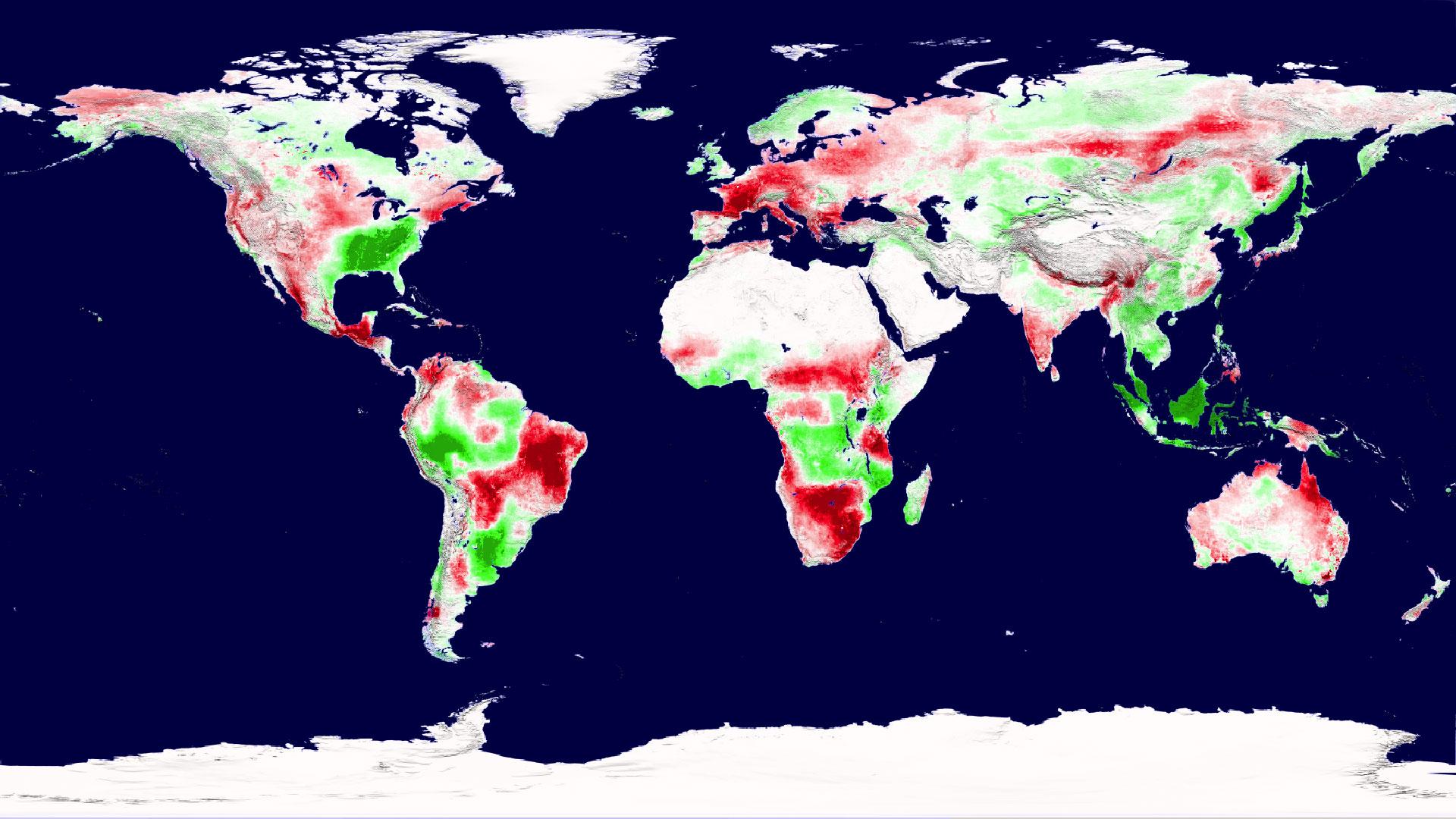 کاهش رشد گیاهان در سطح زمین