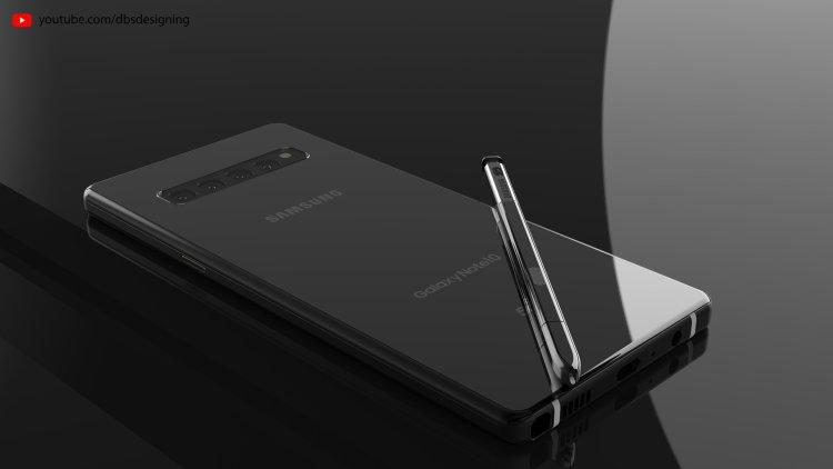 Galaxy Note 10 render