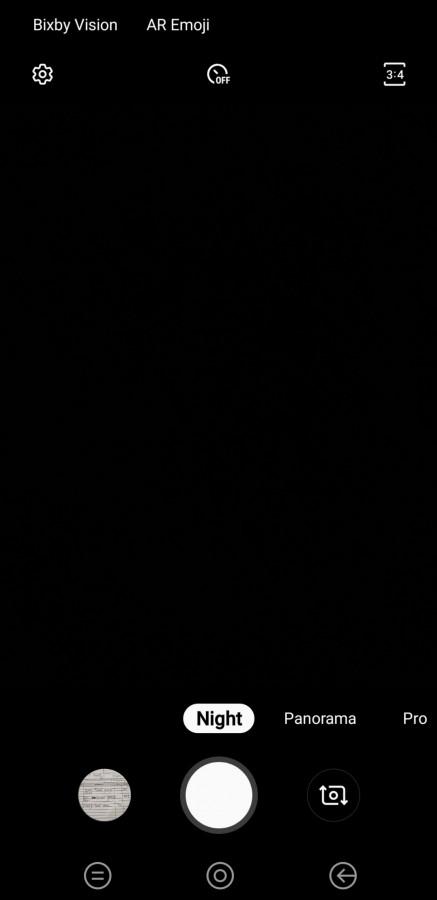 حالت عکاسی در شب در گلکسی نوت 9