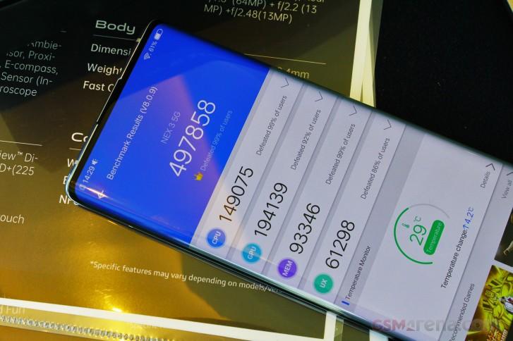 امتیاز گوشی vive NEX 3 در بنچمارک AnTuTu یک رکورد جدید است