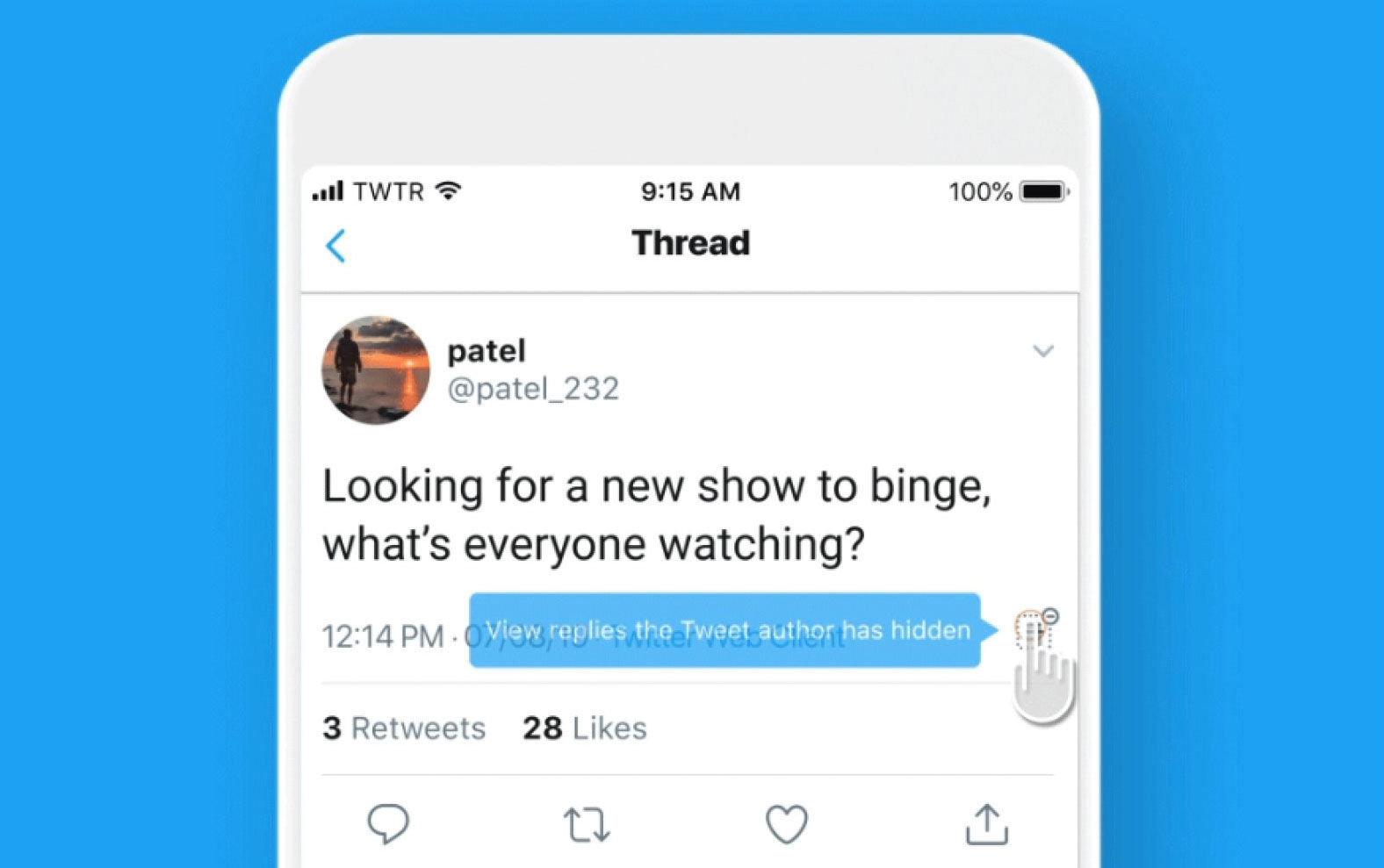 بهروزرسانی جدید توئیتر به کاربران اجازه میدهد جواب سایرین به توئیتهایشان را مخفی کنند