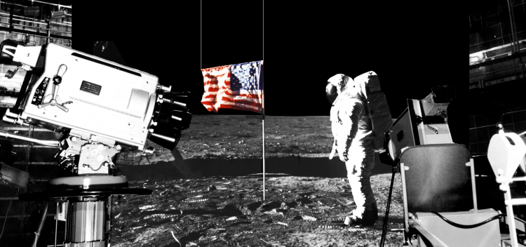 تئوری توطئه فرود بر ماه ناسا