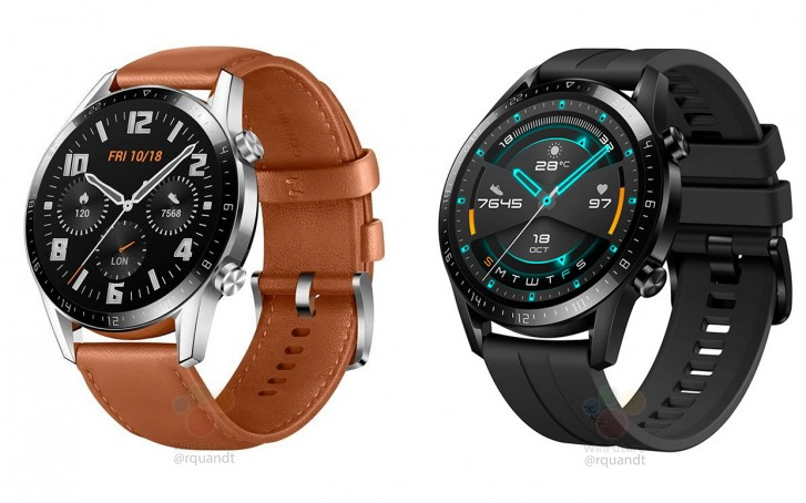 تصاویر ساعت هوشمند Watch GT 2 هوآوی به بیرون درز پیدا کرد؛ حواشی کوچکتر و باتری بزرگتر