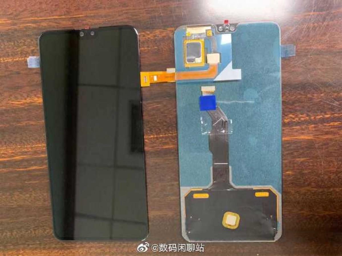 تصویر جدید پنل جلو گوشی میت 30 یک بریدگی بزرگتر را نشان میدهد