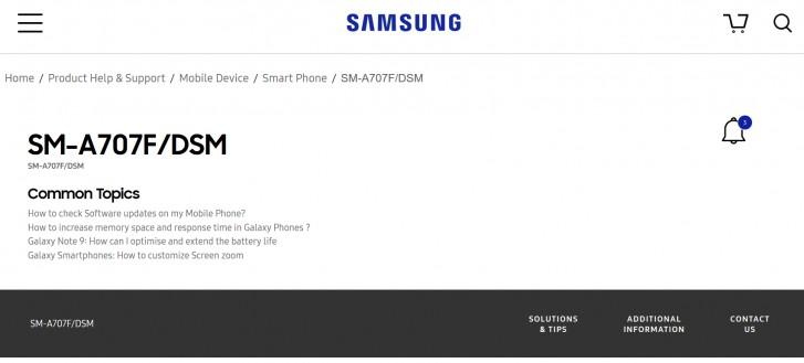 مشخصات گوشی گلکسی A70s توسط سایت TENAA لو رفت
