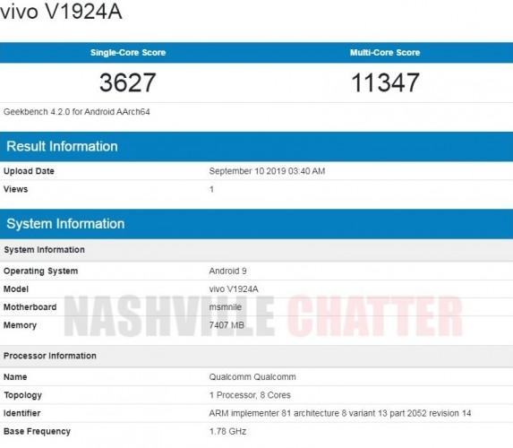 گوشی vivo NEX 3 5G در بنچمارک Geekbench حضور پیدا کرد
