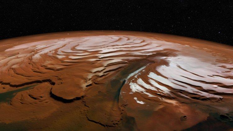 تپههای قطب شمال مریخ