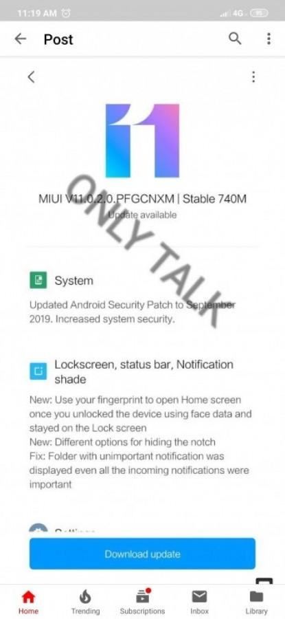 بیلد پایدار MIUI 11 برای گوشیهای ردمی 7، نوت 7 و 7 پرو و K20 برای کاربران چین منتشر شد 3