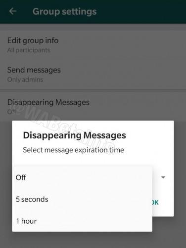 واتساپ قابلیت پیامهای خود حذف شونده را تست میکند
