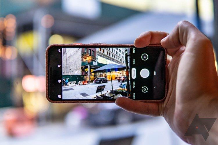 Pixel Camera in hand bokeh hero