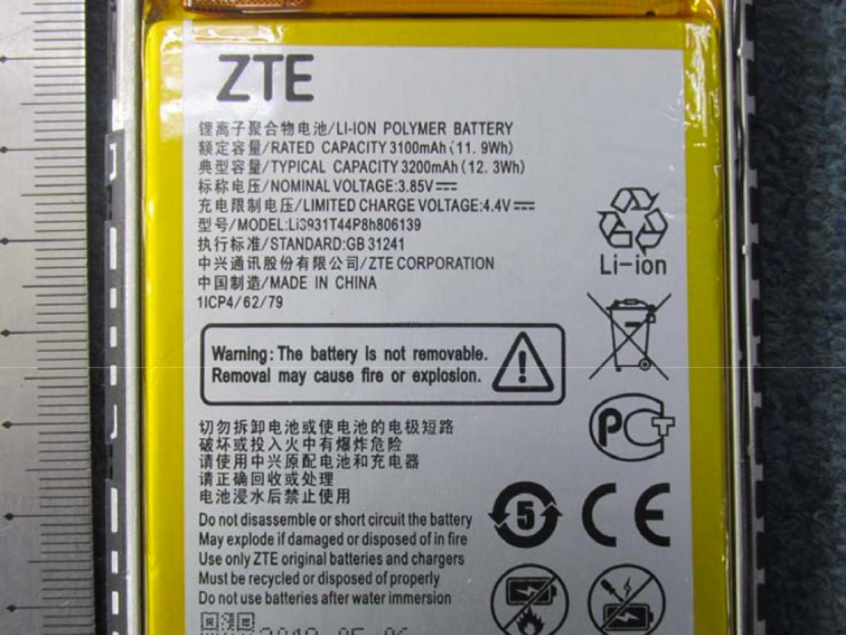سازمان FCC تصاویر گوشی ZTE Blade 20 و باتری 5000 میلی آمپر ساعت آن را منتشر کرد