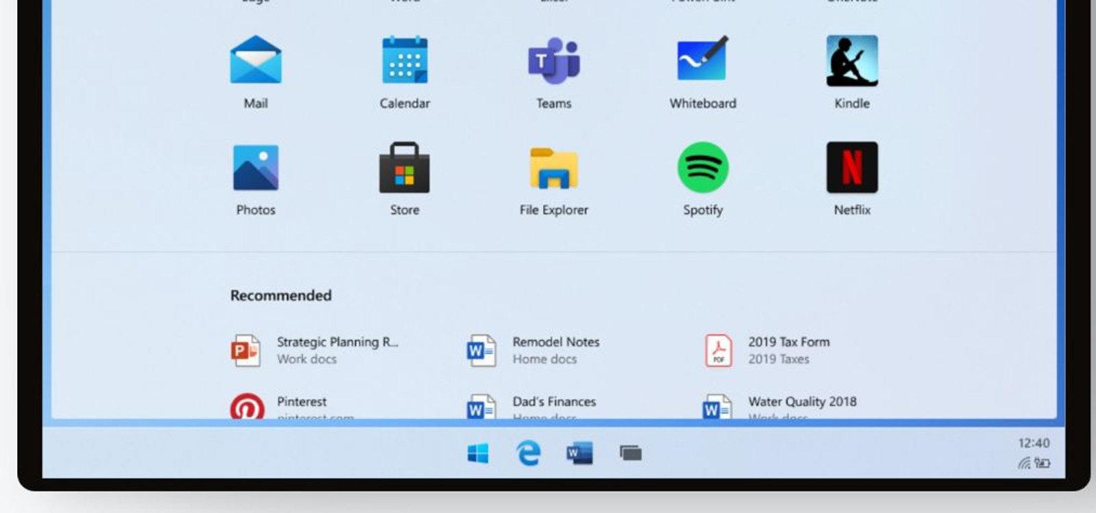 بخشی از طراحی رابط کاربری سیستم عامل ویندوز 10X لو رفت