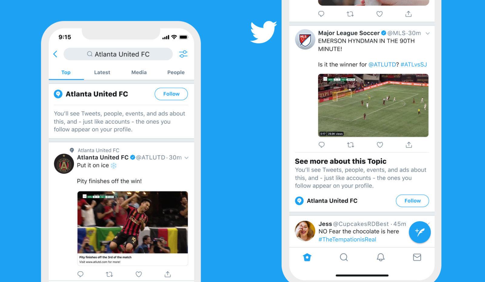 تعقیب موضوعات مورد علاقه در توئیتر ساده میشود