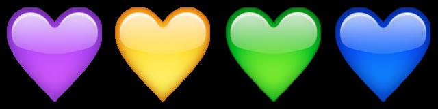 قلب های رنگی