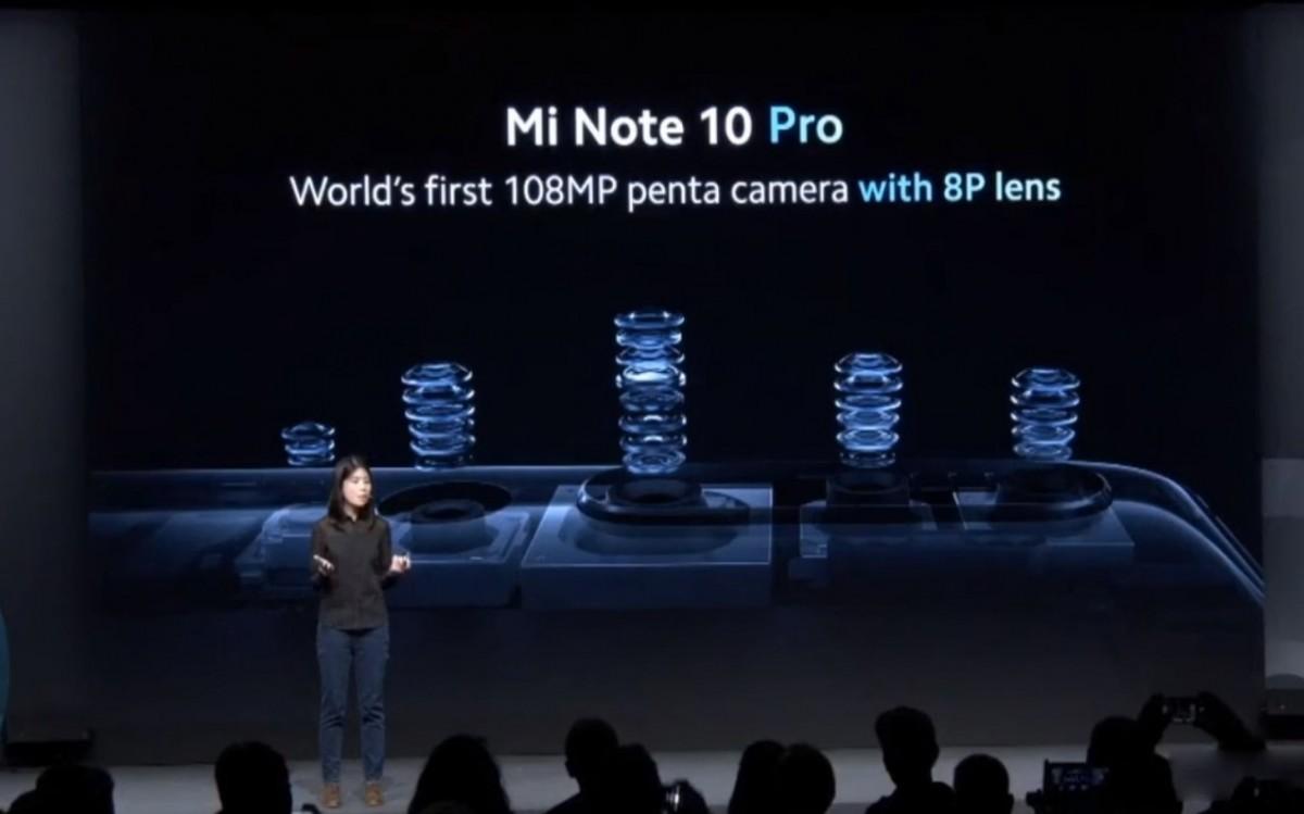 گوشی Mi Note 10 شیائومی رسما معرفی شد؛ مجهز به دوربین اصلی 108 مگاپیکسل