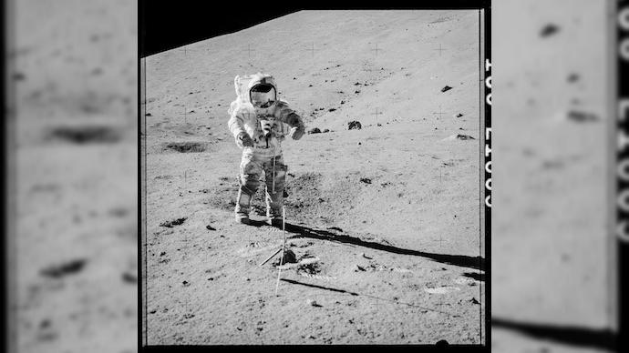 ناسا پس از 37 سال یک سنگ از کره ماه را شکافت