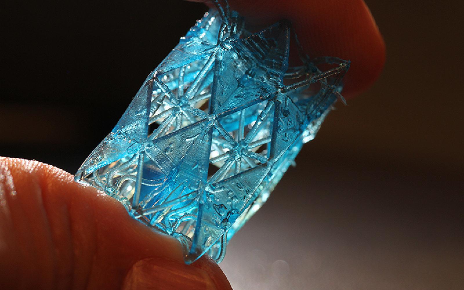 سه بعدی مواد ساختمانی با الهام از استخوان انسان
