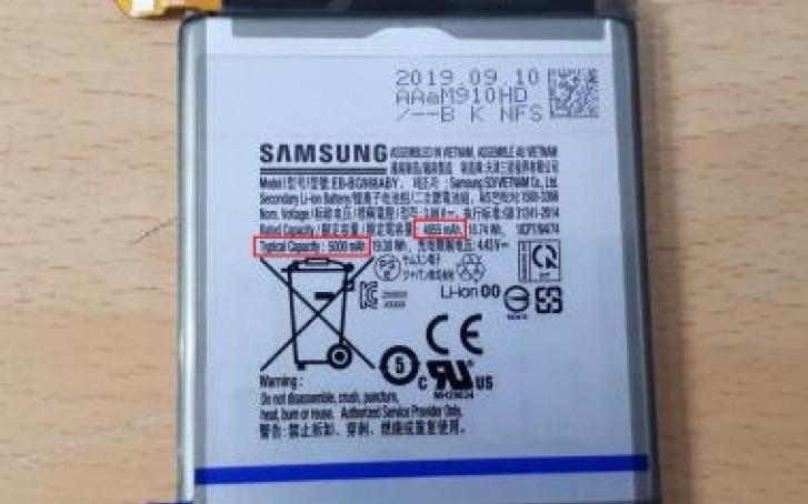 گوشی گلکسی اس 11 پلاس سامسونگ یک باتری 5000 میلیآمپر ساعت دارد